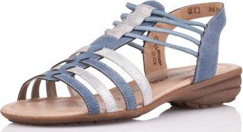 Remonte Damen Sandale Blau Kombiniert