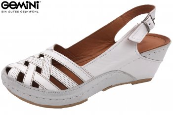 Gemini Damen Keil Sandale Weiß