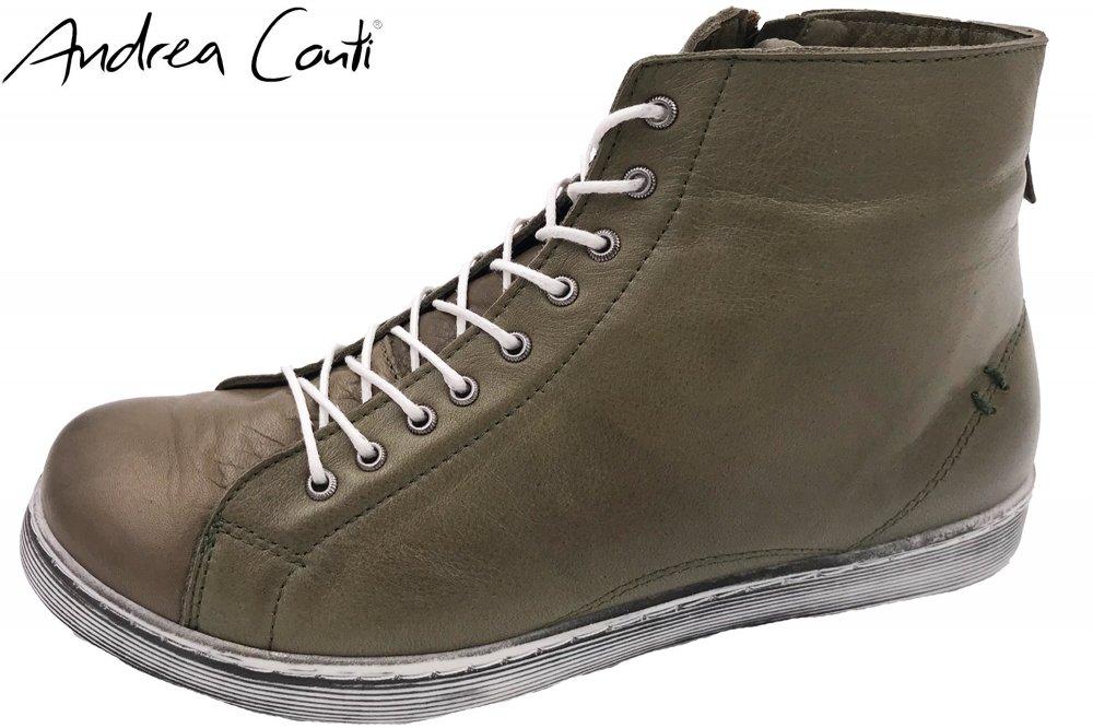 Andrea Conti High Top Sneaker Schlamm