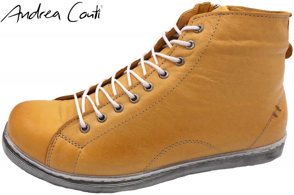 Details zu Andrea Conti High Top Sneaker Ocker Schuhe Leder 344595116