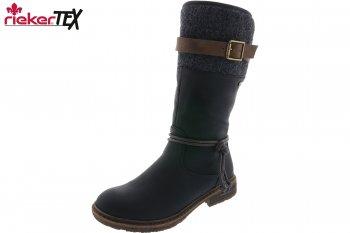 Rieker Damen Stiefel Schwarz Tex
