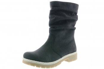Details zu Rieker Damen Stiefelette Simona Schwarz Rot Leder Schuhe Boots NEU 44494