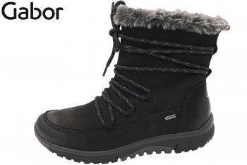 Gabor Rollingsoft Damen Boots Schwarz
