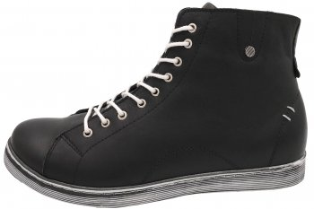 Andrea Conti High Top Sneaker Schwarz