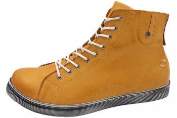 Andrea Conti High Top Sneaker Ocker Gelb