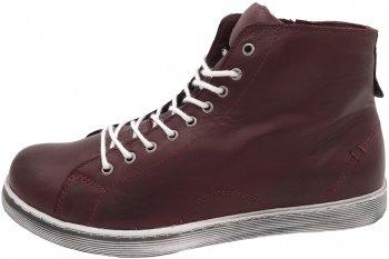 Andrea Conti High Top Sneaker Weinrot Burgund