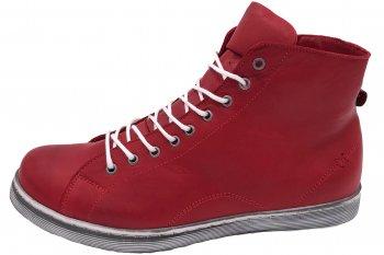 Andrea Conti High Top Sneaker Chilli Rot