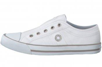 s.Oliver Canvas Sneaker Weiß