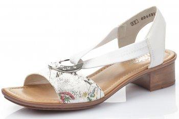 Rieker Damen Sandale Weiß Kombiniert