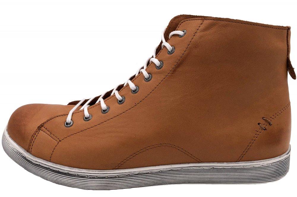 Andrea Conti High Top Sneaker Cognac Braun