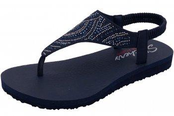 Skechers Damen Sandale Meditation Blau