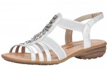 Remonte Damen Sandale Weiß/Silber