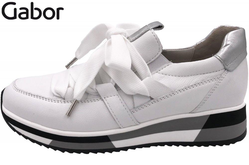 Gabor Damen Sneaker Weiß Kombiniert