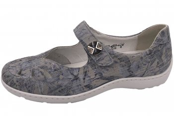 Waldläufer Damen Schuhe Henni Grau Kombiniert