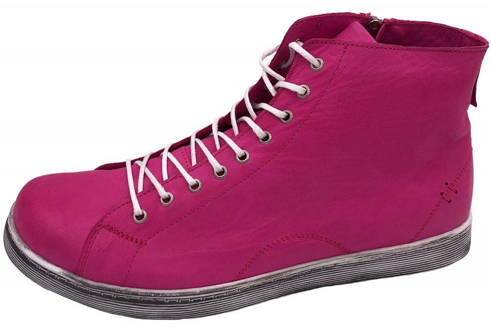 Andrea Conti High Top Sneaker Fuchsia