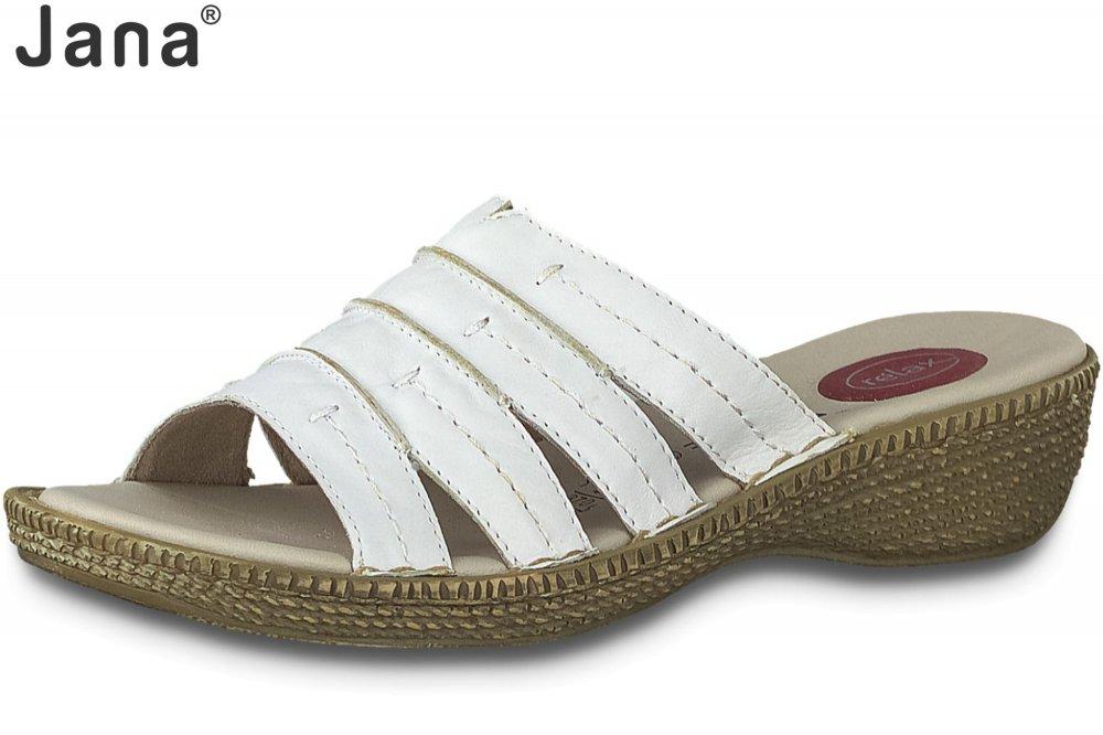 Jana Damen Pantolette Weiß