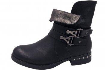 Scandi Damen Boots Schwarz
