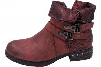 Scandi Damen Boots Weinrot