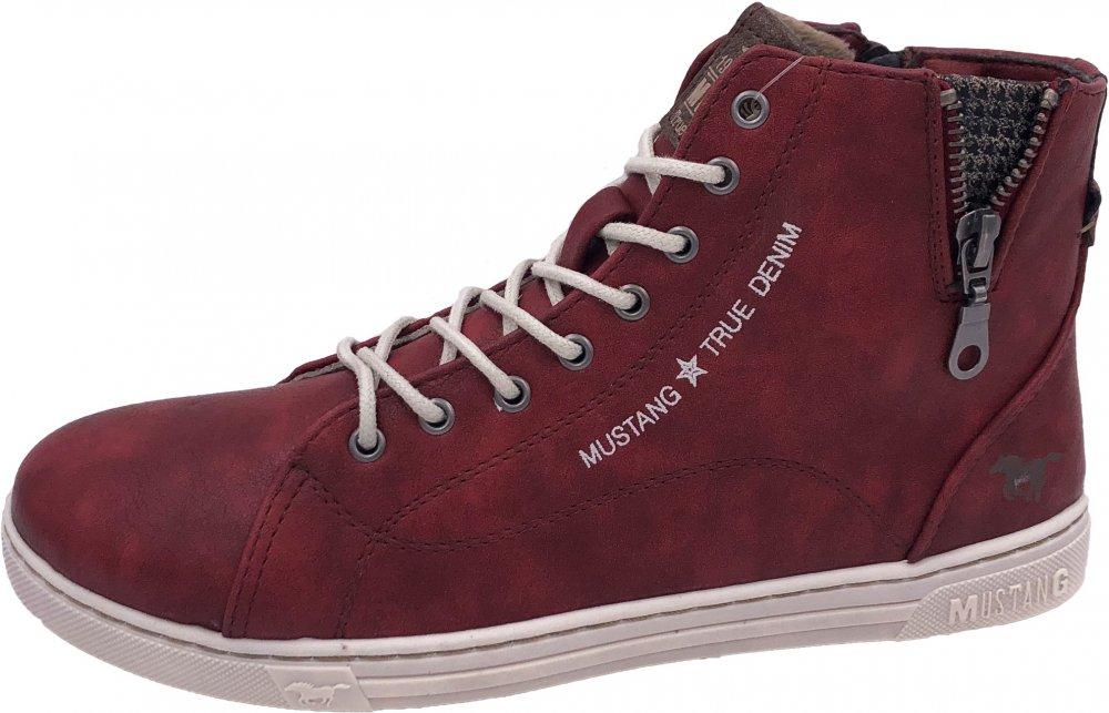 Mustang Damen Sneaker High Rot