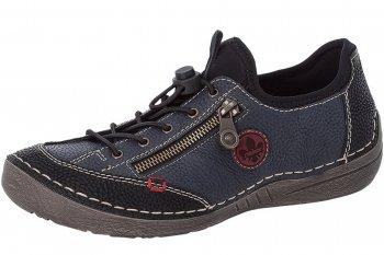 Rieker Damen Sneaker Schwarz Blau