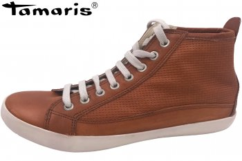 Tamaris Damen Sneaker High Braun