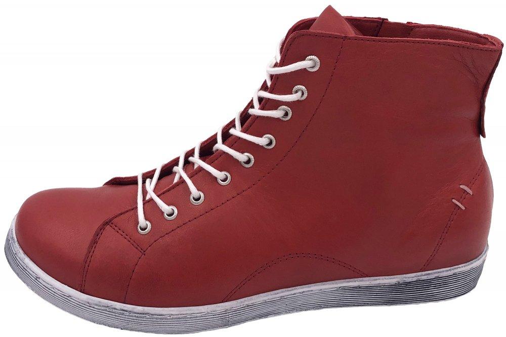 Andrea Conti High Top Leder Sneaker Rosenholz
