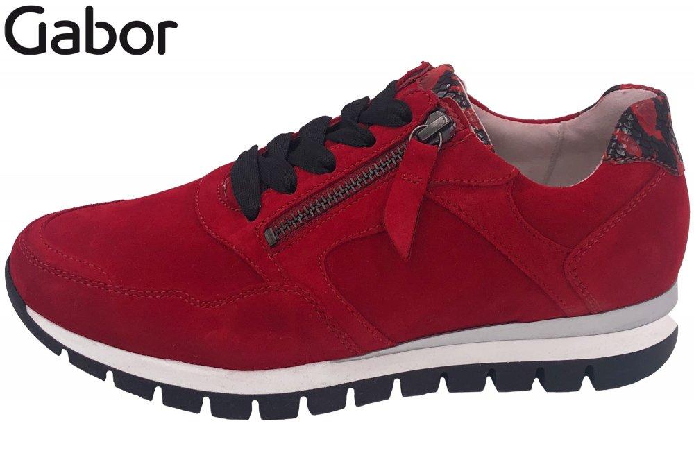 Gabor Damen Sneaker Rot