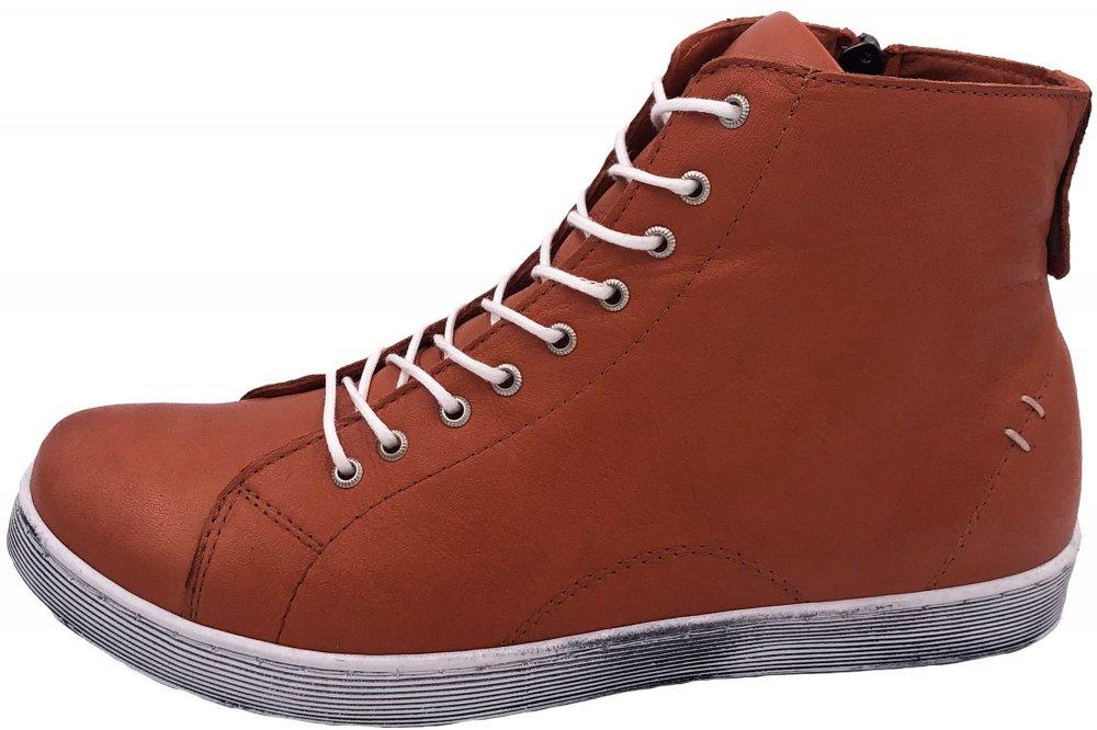 Andrea Conti High Top Leder Sneaker Rost