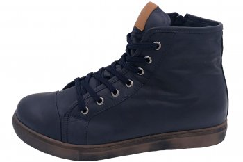 Andrea Conti High Top Sneaker Blau Brandy