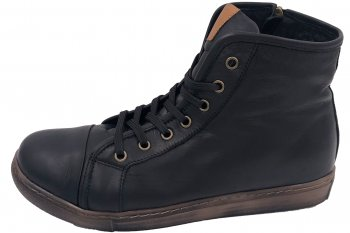 Andrea Conti High Top Sneaker Schwarz Brandy