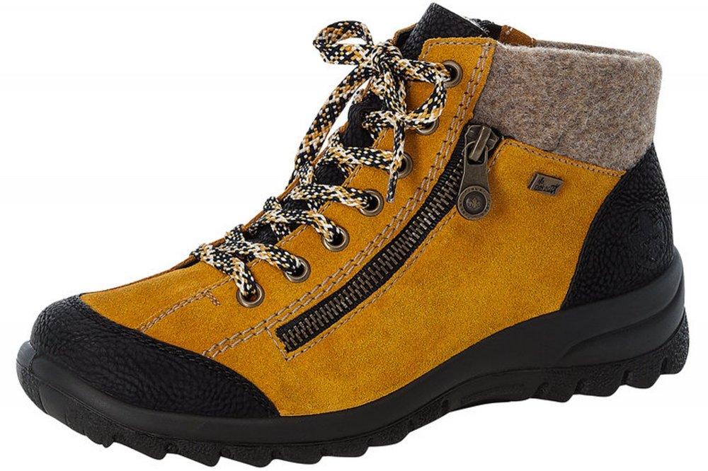 Rieker Damen Schnürschuhe Gelb