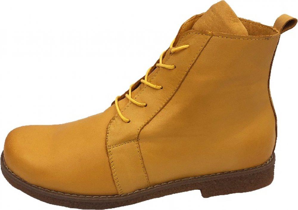 Andrea Conti Damen Boots Ocker