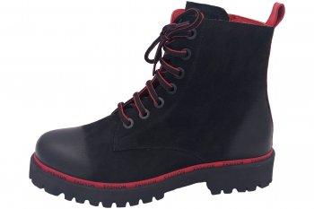 Piazza Damen Stiefel Schwarz Rot