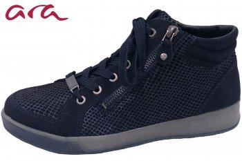 ara Damen Sneaker Blau gemustert