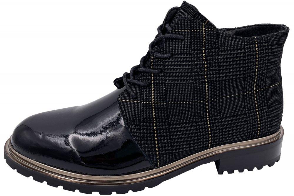 2 GO FASHION Damen Boots Schwarz