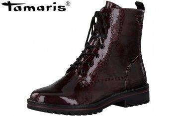 Tamaris Damen Lack Boots Weinrot