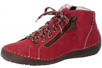 Rieker Damen Schnürschuhe Rot