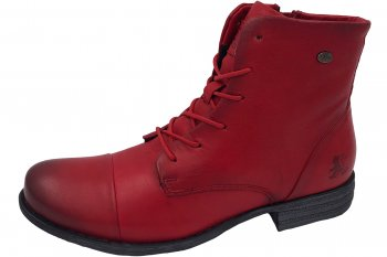 2 GO FASHION Damen Stiefelette Rot