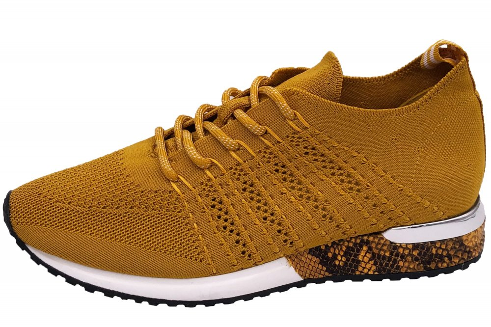 La Strada Damen Sneaker Ocker Gelb