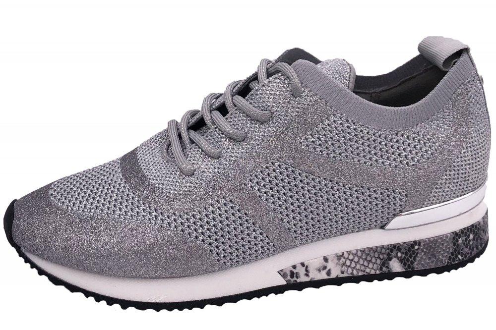 La Strada Damen Sneaker Silber Grau