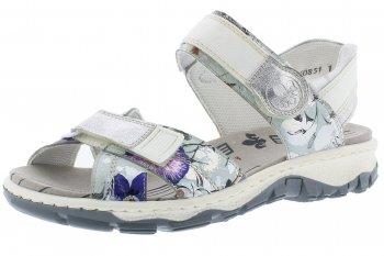 Rieker Damen Trekking Sandale Metallic