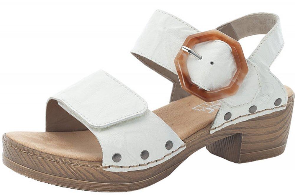Rieker Damen Sandalette Weiß