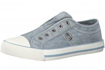 s.Oliver Damen Canvas Sneaker Hellblau