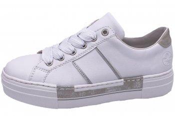 Rieker Damen Sneaker Weiß