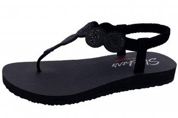 Skechers Damen Sandale Meditation Schwarz