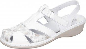 Suave Damen Sandale Weiß Wechselfußbett