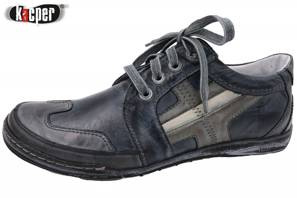 Kacper Herren Schuhe Blau-Grau
