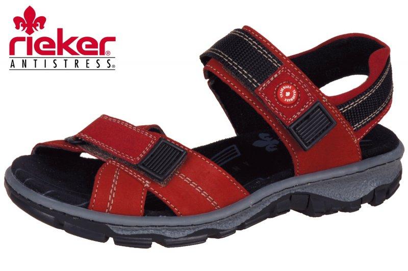 watch promo codes arrives Details zu Damen Trekking Sandalen Rieker Clara Rot 68851-33 Sommer NEU