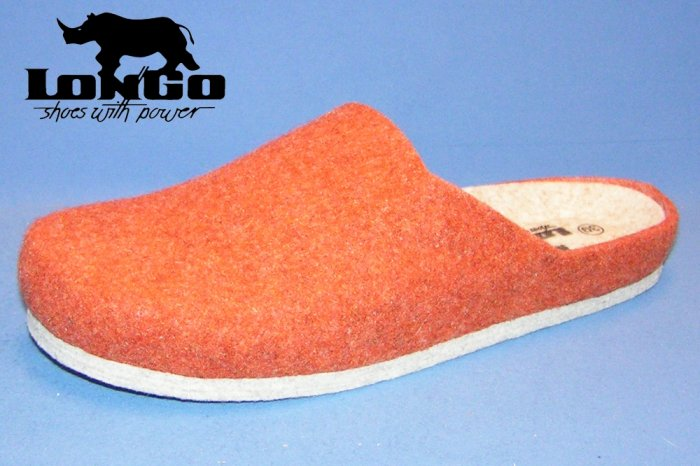 Longo Filzpantoffel Orange