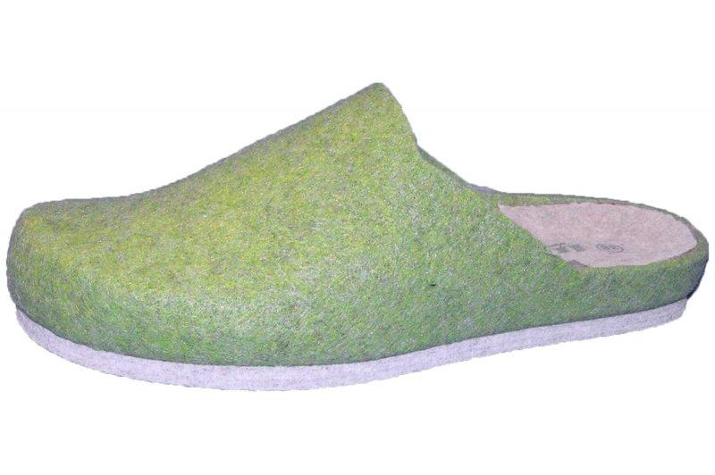 Longo Filzpantoffel Grün